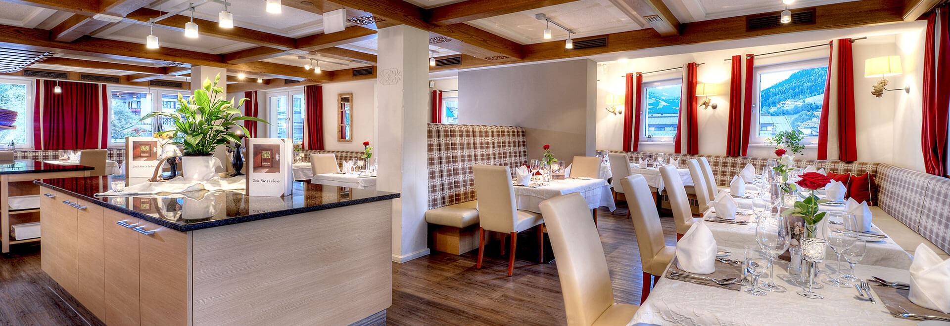 Restaurant im Hotel Schachner