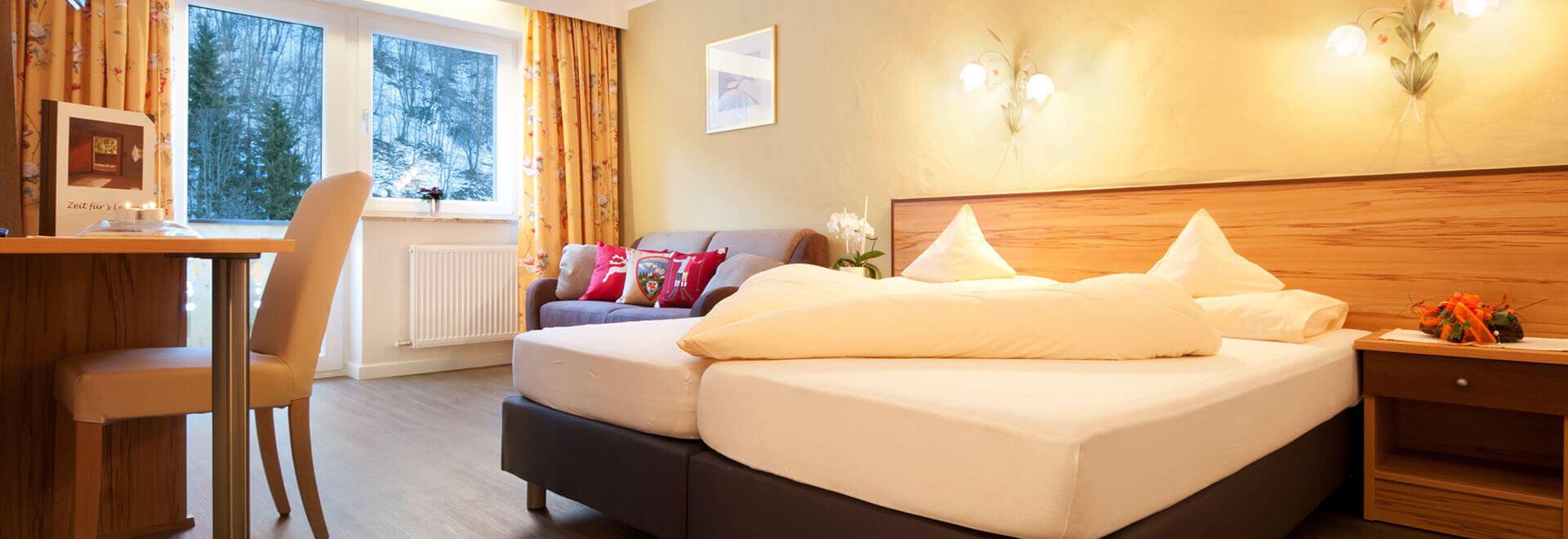 Zimmer im Hotel Schachner